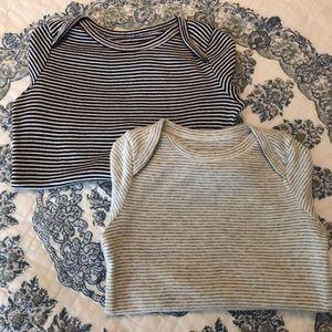 Baby Gap Onesie Set Stripe 18-24 Months Navy Gray